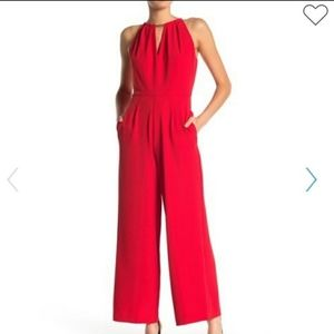 DONNA RICCO RED JUMPSUIT SIZE16
